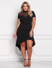 Plus Size Vintage Evening Bodycon Dress