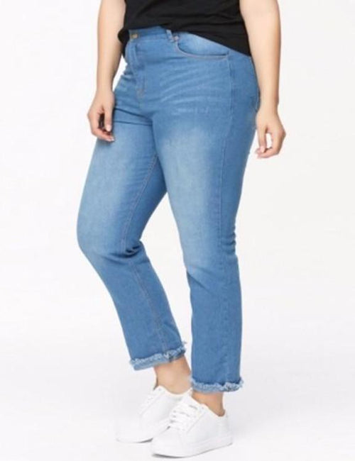 Plus Size Simple Skinny Jeans
