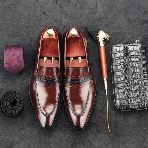 Luxury Italian Designer Dress Shoes Height Increasing Pointed Toe
