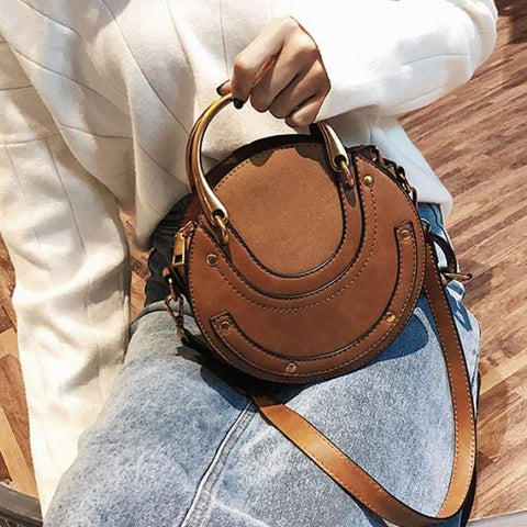 Fashion Women Handbag Ring Appliques Zipper