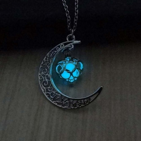 Moon Glowing Necklace Halloween Gifts