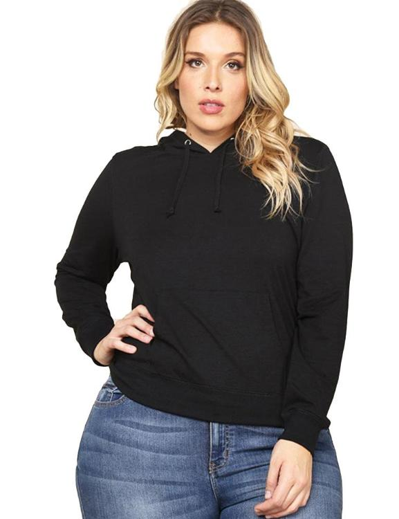 Drawstring Pocket Long Sleeve Oversized Pullover