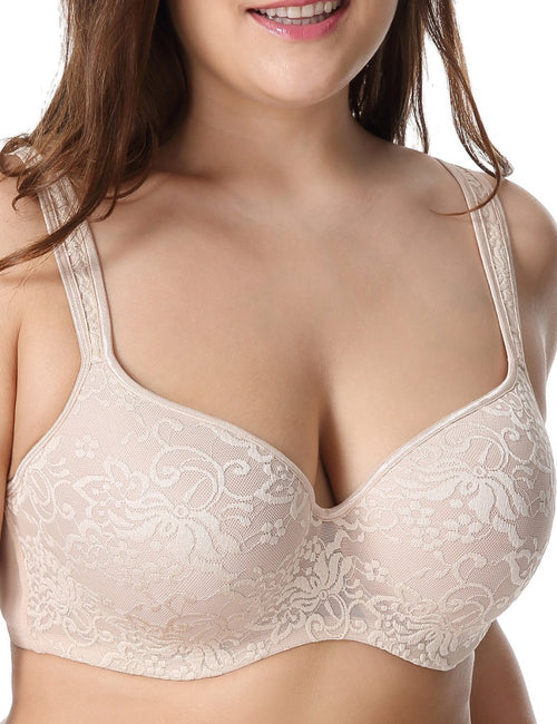 New Embroidered Full Coverage Underwire Bra