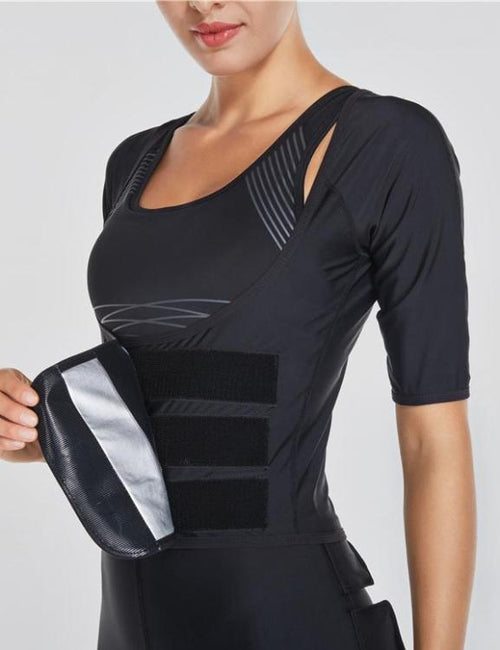 Sauna Sweat Body Shaper Slimming Thermo Push Up Vest Cincher Corset