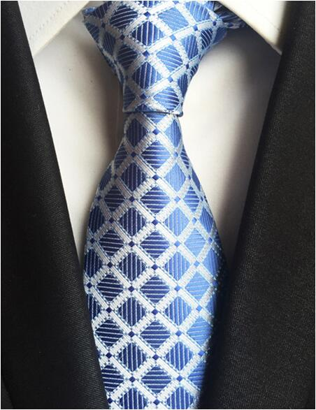 Classic Silk Men  Plaid Neck Ties