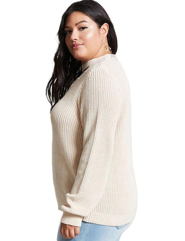 Hollow Out Solid Pullovers Sweater