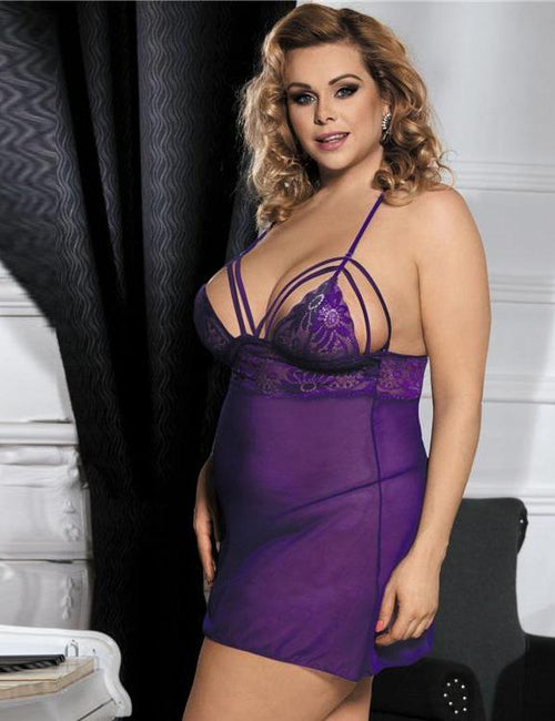 See Though Thin Plus Size Babydoll