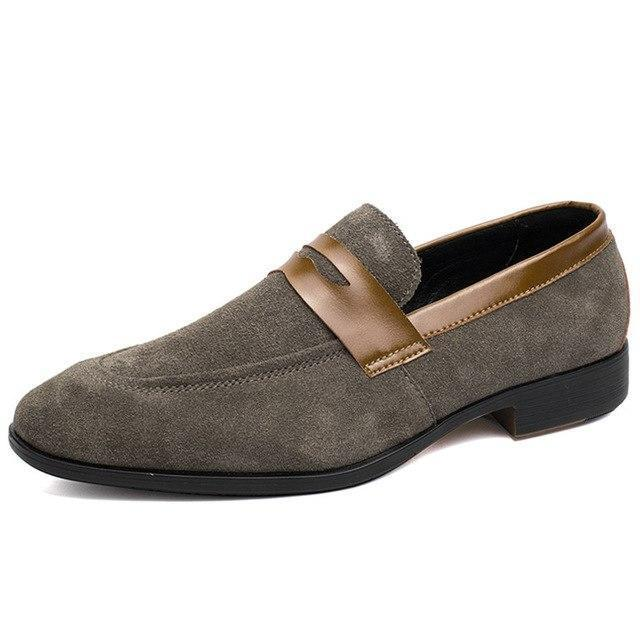 Dress Shoes - Suede Leather Comfortable Slip-On Shoes
