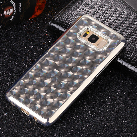 3D Glitter Bling Crystal Diamond Silicon Back Case for Samsung Galaxy