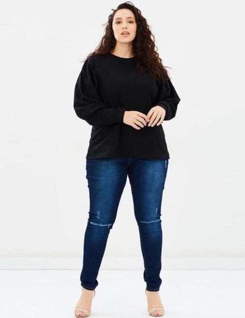 Plus Size Autumn O-Neck Casual Sweatshirt