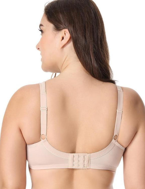 Comfort V-neck Full Coverage No Padding Underwire Minimizer Bra