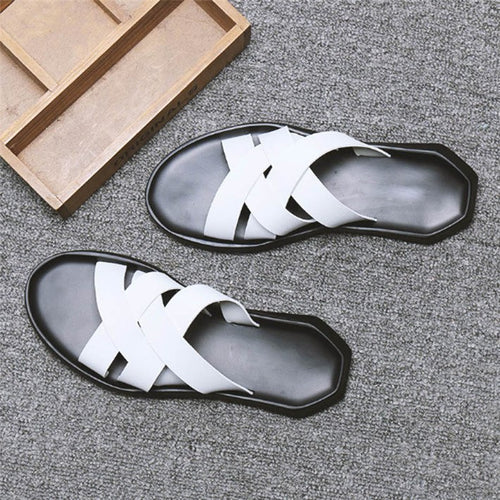 New Slip Leather  Man Sandals