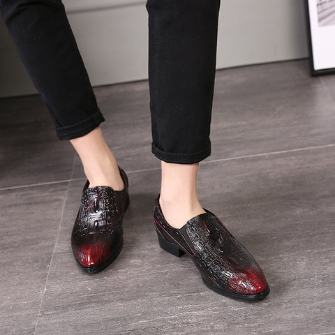 Crocodile Pattern Flats Dress Shoes
