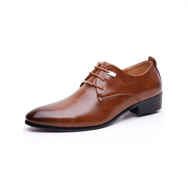 Luxury Waxed Leather Business Shoes