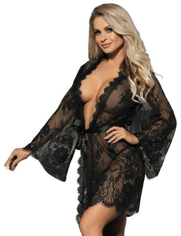 Half Sleeve Irregular Nightdress Hollow Out Cold Shoulder Sleepwear