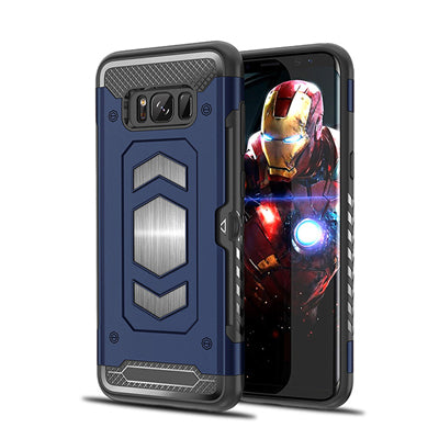 Anti Shock Back Card Slot Heavy Duty Magnet Armor Case Cover For Samsung Galaxy Note 8 9/S9