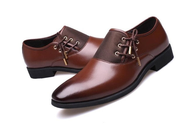 Classic Point Toe Oxfords Dress Shoes