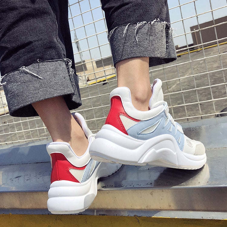 Breathable Mesh Lace Up Soft High Sneakers