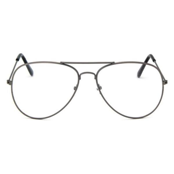 Classic Female Eyewear Glasses Pilot Style Metal Frame