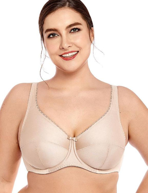 Non-Padded Full Coverage Firm Support Control Underwired Bra