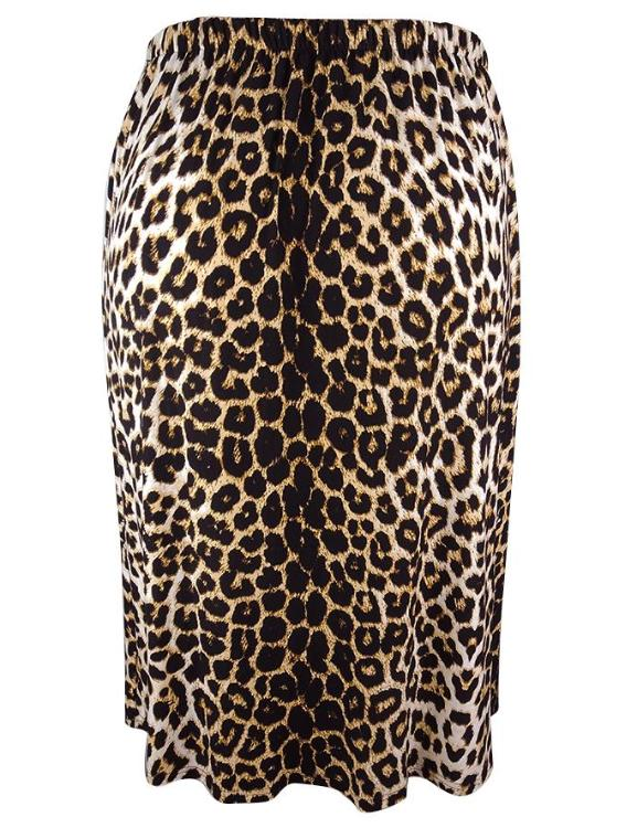 Plus Size Leopard Print Comfortable Long Skirts