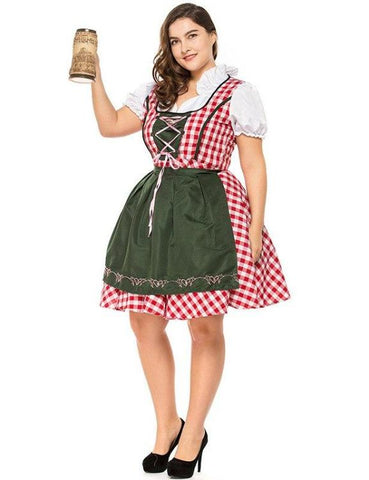 Plus Size German Bavarian Oktoberfest Costumes Dress
