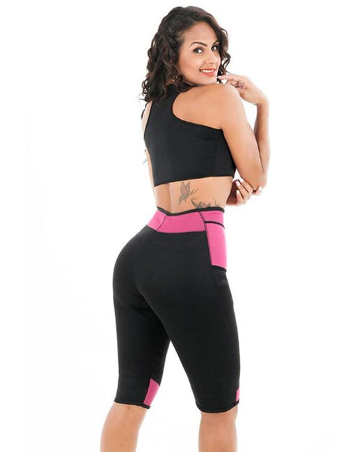 Patchwork High Waist Capri Body Shapers (Pants + Vest)