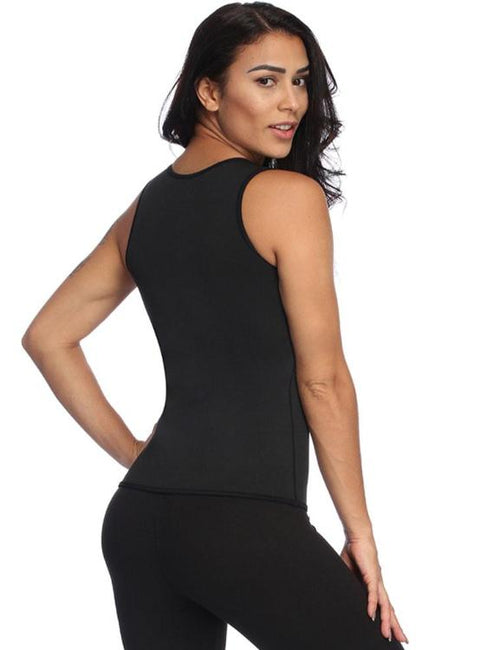 Superfit Black Neoprene Big Vest Shaper Mesh Patchwork Magicwear