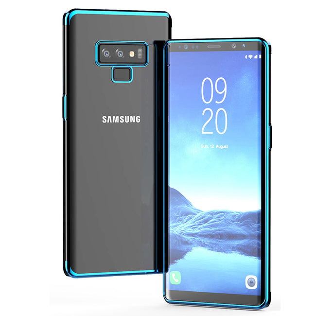 Luxury Laser Plating Soft Clear Back Samsung Galaxy Note 9 Case