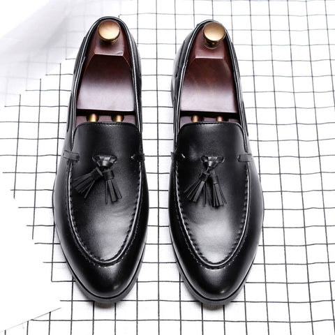 High-Quality Patent Leather Tassel Moccasins Loafers