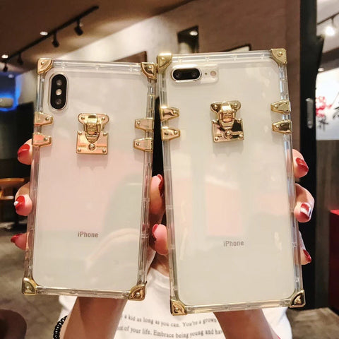 Luxury Golden Locker & Wrap Corners iPhone Case for iPhone X/XS/XR/XS MAX