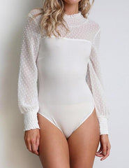 Loosesize Women Lace Bodysuit