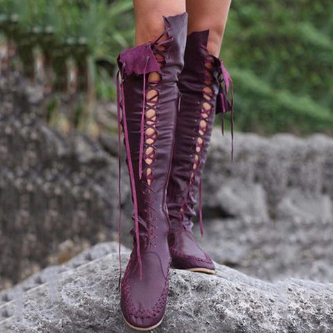 Leisure Knee-high Flat Boots