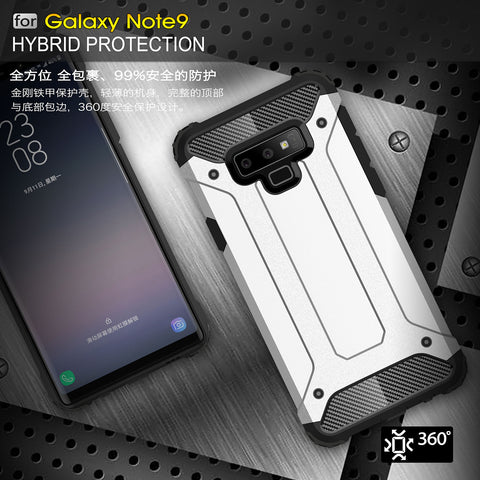 Magnetic Car Holder Shockproof TPU+PC Back Hybrid Case for Samsung Galaxy Note 9