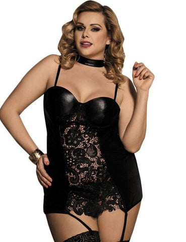 Plus Size Women's Sexy Sleep Nightgowns 5XL Lingerie Babydoll Satin Chemise Large Dress Sleepshirts