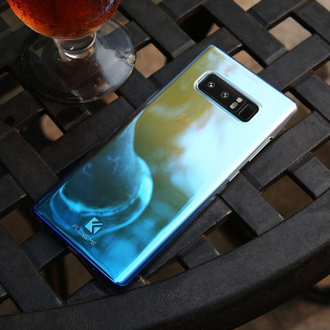 Hard Plastic Blue Ray Gradient Case For Samsung Galaxy Note 9