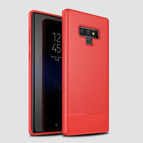 Luxury Soft Silicone Carbon Fiber Phone Back Cover for Samsung Galaxy Note 9 Case