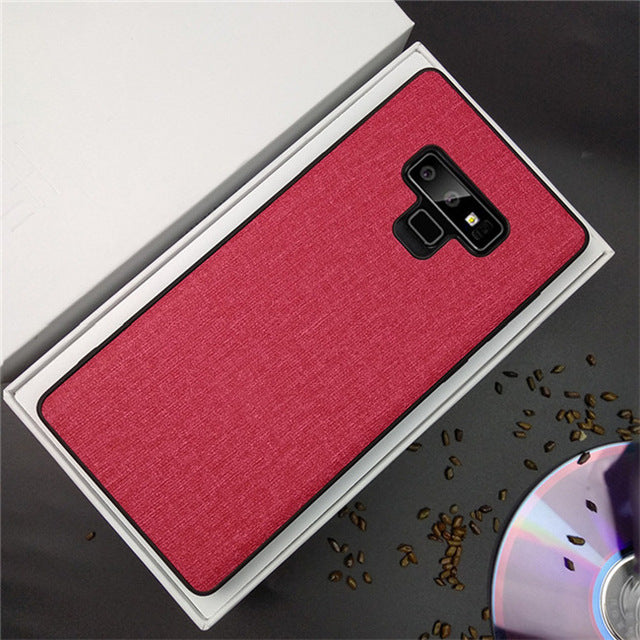 Fabric Hard PC Samsung Galaxy Note 9 Case with Silicon TPU Edge