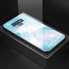 Marble Pattern Hard Back Glass Samsung Galaxy Note 9 Case