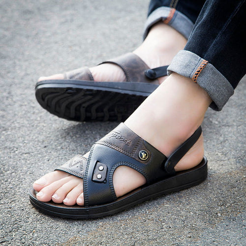 Fashion Leather Male Sandals