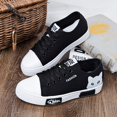 2018 New Cat Women's Flat Autumn Shoes Fashion Footwear