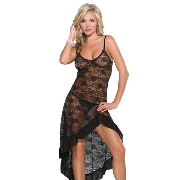 Plus Size Temptation Long Nightie Dress