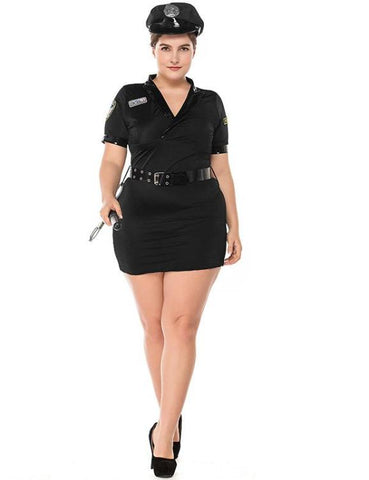 Plus Size Policewoman Halloween Party Costume