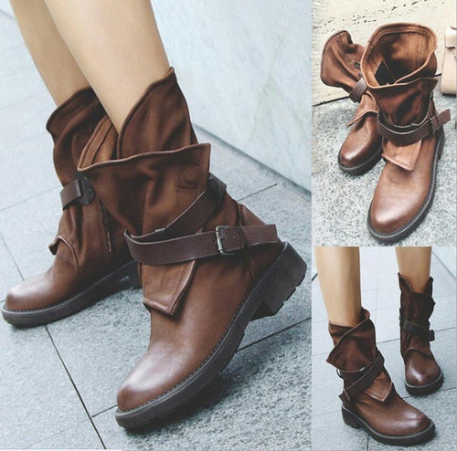 Low Square Heels Gladiator Boutique Boots