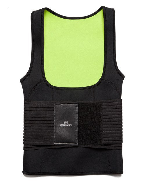 Neoprene Sauna Vest Sweat Waist Trainer Corset Body Shaper