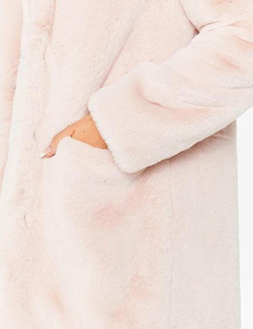 Casual Shaggy Thicken Warm Faux Fur Coat