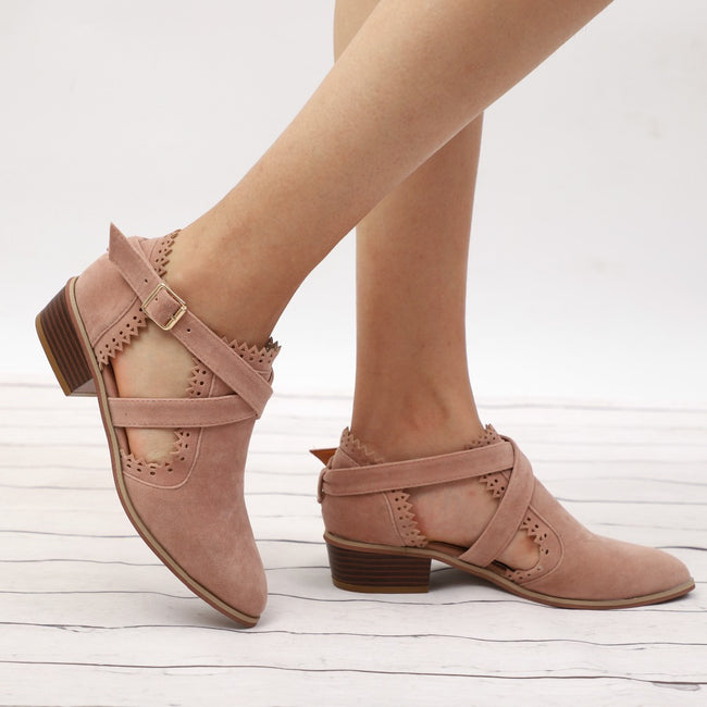 Pointed Toe Low Heel Ankle Boots