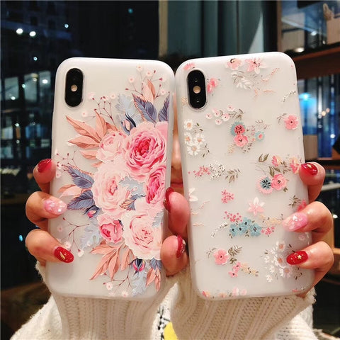 3D Relief Flower Case For iPhone XS/XR/XS MAX