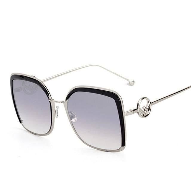 Elegant Ladies Square Sunglasses Alloy Frames