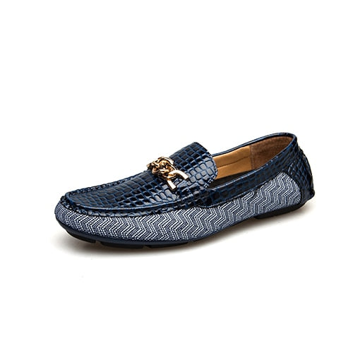Casual Leather Male Loafers Boat Shoes
